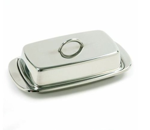 Danesco Covered Butter Dish, Gray 8010508SS