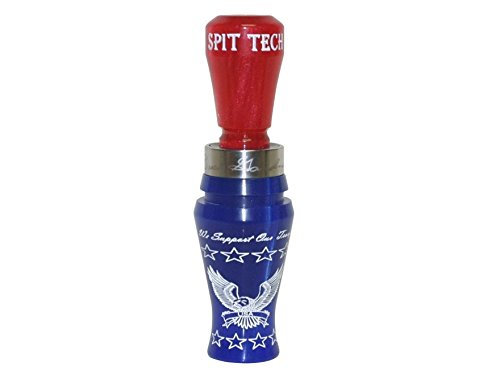 Buck Gardner All-American Series Buck Brush Acrylic Duck Call Blue Pearl and Red