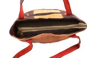Earth-Divas-MH-157-Adorable-Hemp-Made-High-Quality-Zipper-Patchworked-Handbag