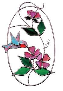 Pre-Cut Hummingbird Oval Kit (Pre Cut Stained Glass)