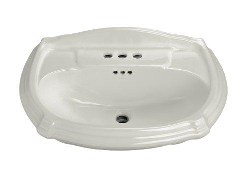 KOHLER K-2222-4-95 Portrait Pedestal Bathroom Sink Basin with 4