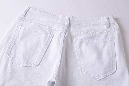 Nuovi Ginocchio Abbigliamento Jeans Uomo Da Al Bianca Denim Pantaloni Skinny Club Streetwear Adelina Chiusura Super Rqw0Oq1z