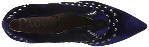 Paco Gil P3091 - Zapatos abotinados Mujer Azul