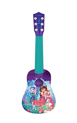 Enchantimals K200EC, Mattel-Guitarra 6 Cuerdas, 53 cm, instrumento infantil a partir de 3 años (Lexibook