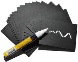 Pizarra portaprecios negra reutilizable con rotulador blanco ...