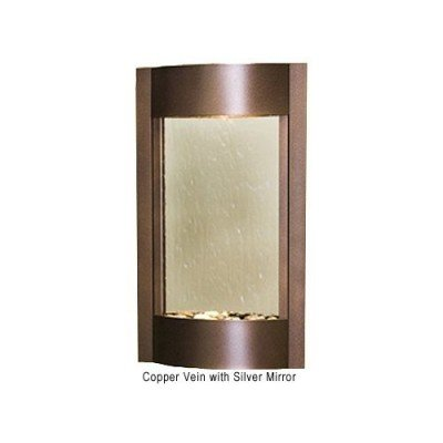 Adagio Serene Waters Fountain w/ Silver Mirror in Copper Vein Finish