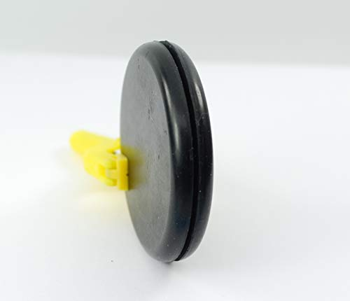 Rubber Hole Plug for 2'' Opening - for 1/16'' Thick Panel -''Grommet Without A Hole'' - Solid Flush Plug - Seals Opening in Metal Panels - Provides Finished Appearance on Both Sides of Panel (24) by Generic (Image #3)