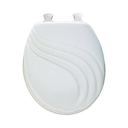 Bemis 27EC 000 White Round Molded Wood Toilet Commode Seat by Bemis (Image #1)