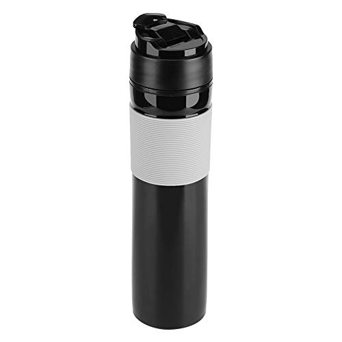 Cafetera portátil 350ml Mini máquina de café espresso Presión de mano Cafetera espresso Máquina de café manual compacta…