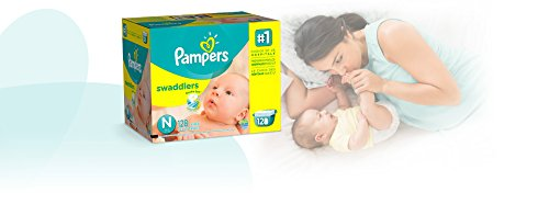 Large Product Image of Pampers Swaddlers Diapers, Size N, Giant Pack, 128 Count (Packaging May Vary) (Packaging May Vary)