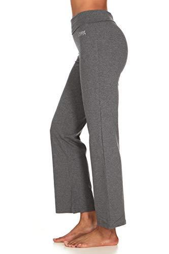 UNIQUE STYLES ASFOOR Yoga Pants for Women Fold Over High Waist Bootcut Long Leggings