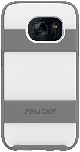 Cases Phone Cell Voyager - Pelican Voyager Phone Case (White/Gray) Compatible with Samsung Galaxy S7