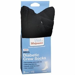 110d9a1348e Amazon.com  Walgreen s Men s Diabetic Compression Crew Socks by ...