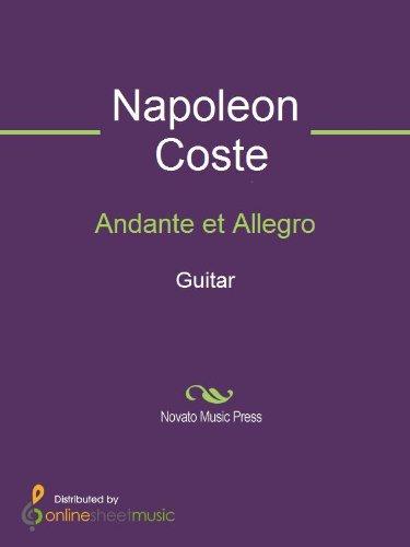 Book Guitar Andante Music - Andante et Allegro - Guitar