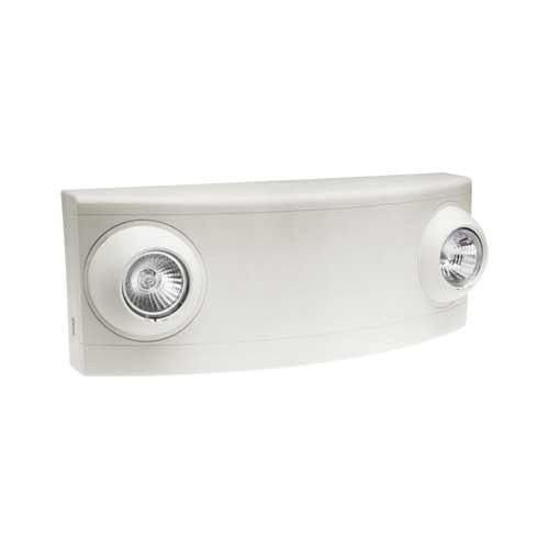 (Hubbell Lighting LZ2 Box Mount Semi-Recessed Round 2-Head LZ Series 2-Round Head Emergency Light 5 Watt 120/277 Volt AC 6 Volt DC White Dual-Lite)