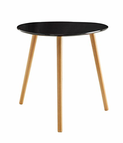 Convenience Concepts Oslo End Table, Black Piano (Contemporary Wood Finish End Table)