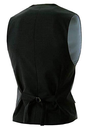 Snap Suit Fashion Party Abito Gilet Button Business Schwarz Uomo Unita Sposa Saoye Da Basic Fit Slim Tinta Blazer Giovane Casual Vest qOxUHd8