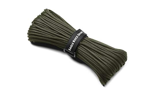 Eagle Rock Gear - 550lb 7-Strand Nylon Paracord Rope - 100 ft (Army Green) ()
