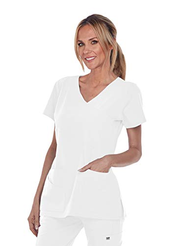 - Grey's Anatomy Signature 2130 Mock Wrap Top White XL