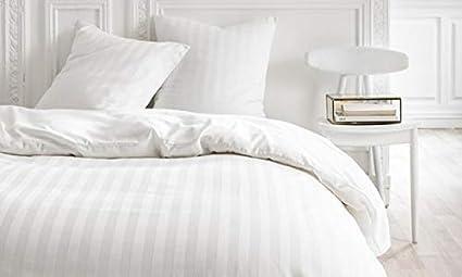 Alpes Blanc Housse de Couette Coton 220 x 240 Finition Satin White