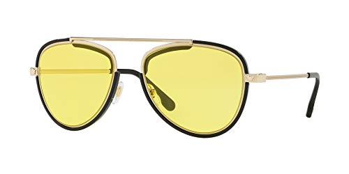 Versace Men's VE2193 Pale Gold/Black/Yellow One ()