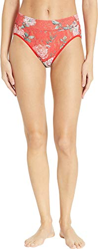 Hanky Panky Women's Holiday Blossom French Brief Red Multi Large
