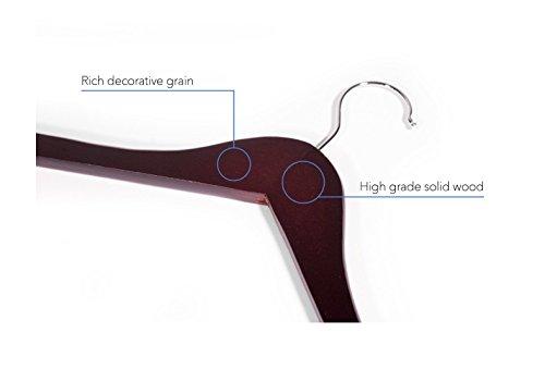Topline Classic Wood Shirt Hangers - Cherry Finish (10-Pack) by Topline (Image #2)