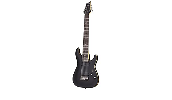 Amazon.com: Schecter 8 String Solid-Body Electric Guitar Aged Black Satin 3663: Musical Instruments