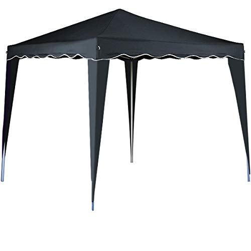 cucunu Canopy Instant Gazebo Pop Up Tent 10 x 10 Shelter with Metal Frame for Outdoor Patio Garden Waterproof 10x10 Grey ()