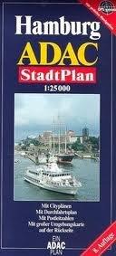 Hamburg (Germany) 1:25,000 Street Map & Environs ADAC