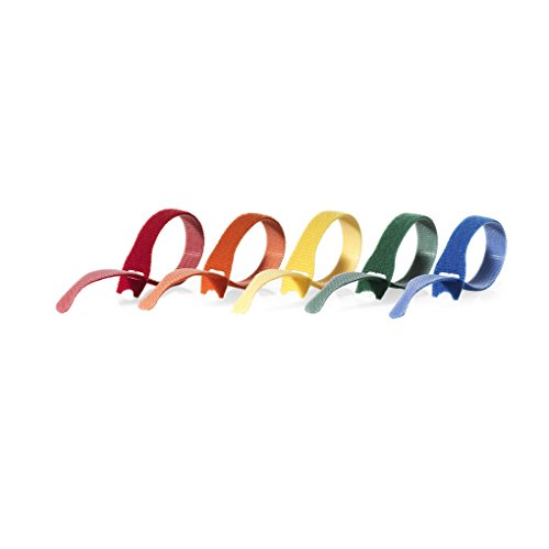 "075967904388 - VELCRO Brand - ONE-WRAP Cable Management, Self Gripping Cable Ties, Reusable, 8"" x 1/2"" Ties, 5 Ct. - Multi-color carousel main 2"