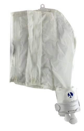 Zodiac 48-057 White All Purpose Double Zipper with Collar SuperBag Replacement for Zodiac Polaris Pool Cleaner