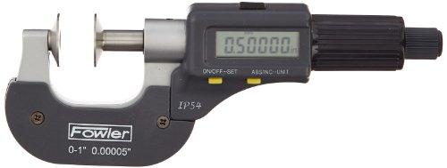 Fowler 54-860-301 Electronic IP54 Disc Micrometer, 0-1/0-25mm Measuring Range, 0.00005