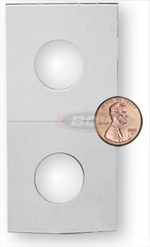 500 Ct. 2X2 Premium Cardboard Coin Holders - Penny / Cent Flips