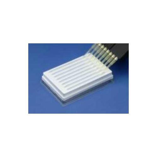 12 Channel Reservoir Trough Plate, White Polystyrene by JG Finneran