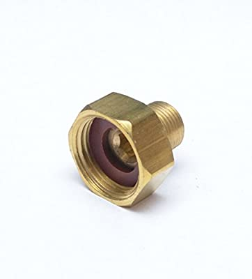 """FASPARTS 3/8"""" Male NPT MPT MIP to 3/4"""" Female GHT Garden Hose Thread Adapter Brass Fitting Fuel / Air / Water / Boat / Gas / Oil WOG House / Boat / Lawn / Power Wash / Irrigation"""
