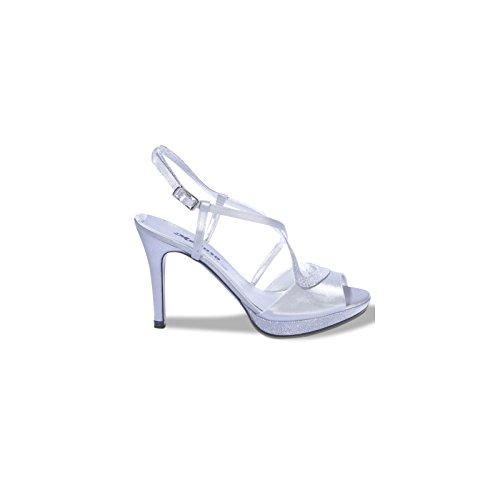 MELLUSO - Zapatos de vestir de Satén para mujer Plateado plateado 36 plateado