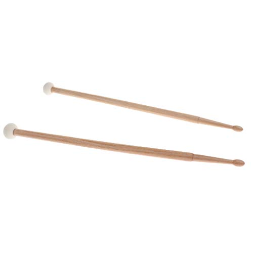 gazechimp 2Pcs Drum Set Cymbal Mallets Drumsticks Double Stick Percussion Instrument Parts