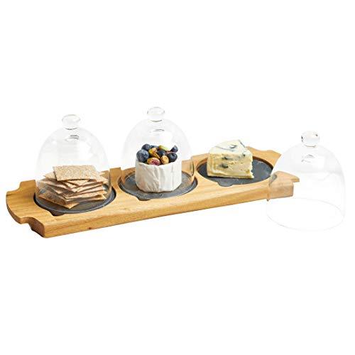 (Master Class Artesà Mini Cloche Appetiser Serving Set, 37 x 12 x 12.5cm (14.5