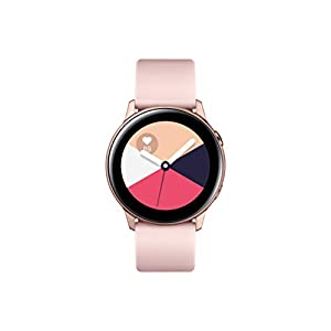 Samsung Galaxy Watch Active (40mm, GPS, Bluetooth), Rose Gold – US Version with Warranty