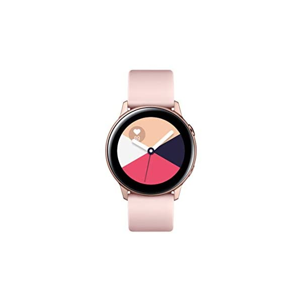Samsung Galaxy Watch Active (40mm, GPS, Bluetooth), Rose Gold - US Version with Warranty