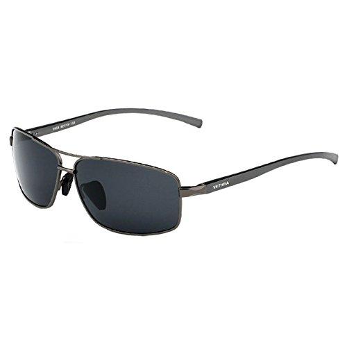 Gray 2015 Aluminium Mnes Polarized Sunglasses Outdoor Driving Aviator - Aluminium Clubmaster