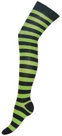 Over The Knee High Socks Striped
