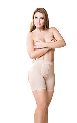 Real Curvy Women Faja Colombiana Beige Butt Lifter Tummy Control Body Enhancer, 32