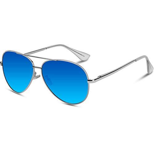 VVA Gafas de sol Hombre Polarizadas Aviador Hombres Aviador Gafas de sol Polarizadas Hombre Unisex Protección UV400 por V101 a buen precio