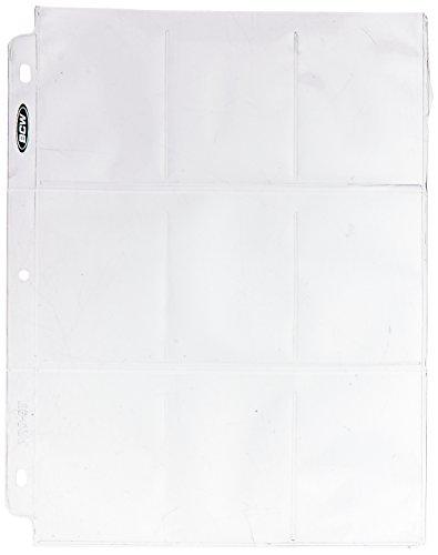 BCW 100 9 Pocket Plastic Sheets