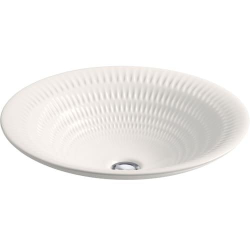 KOHLER K-17890-RL-K8 Derring Design on Carillon Wading Pool Round Bathroom Sink, Translucent White