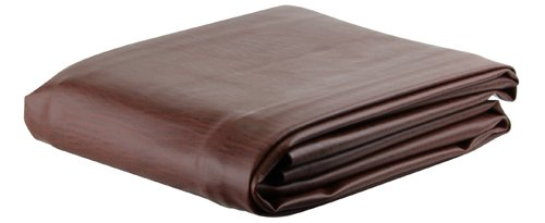 Ozone Brown Leatherette Pool Table Cover - 8 Foot ()