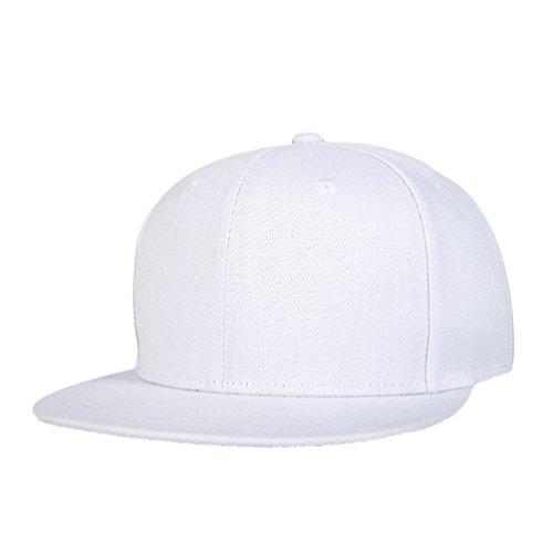 Béisbol Gorras Snapback Hats Blanco Accesorios Plano Clásico Unisex Hop de LINNUO Cap Hip Sombrero Hats Baseball Hfwx0U