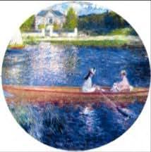Renoir Boating on the Seine Big Pin